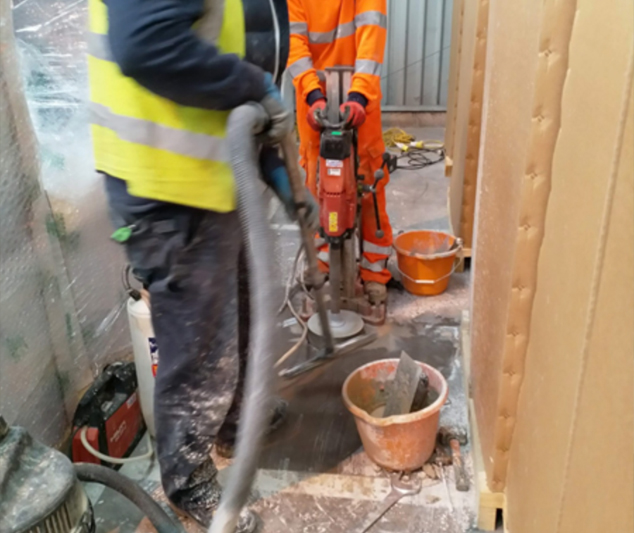 Coring Through A Slab To Conduct A Plate Load To The Subbase