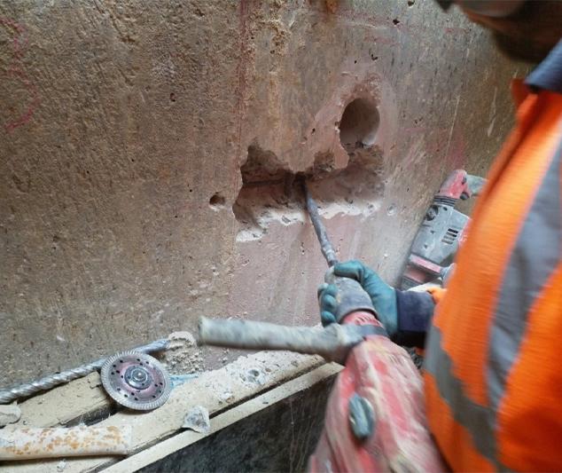 Removing Reinforcing Steel For Tensile Testing