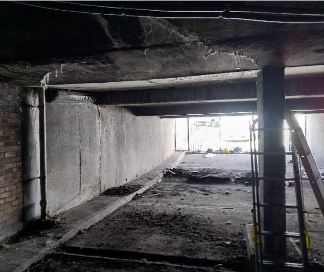 Underground Car park with water ingress being investigated